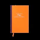 Großes Cahier in Orange