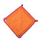 Quadratischer Taschenentleerer in pink  / orange