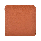 Quadratischer Taschenentleerer in braun / rot