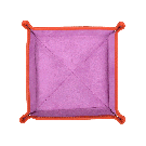 Quadratischer Taschenentleerer in orange / lila