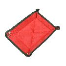 Kleiner Taschenentleerer in grün / rot