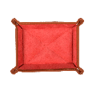 Kleiner Taschenentleerer in braun / rot