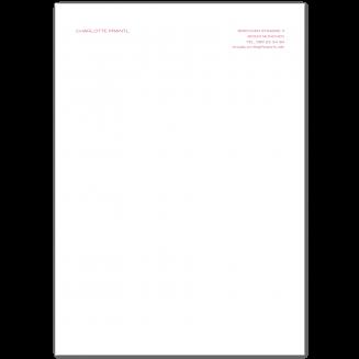 Klassisches A4 Briefpapier (Blocksatz)