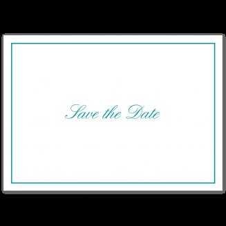 Save the Date Klappkarten mit feinem Rahmen