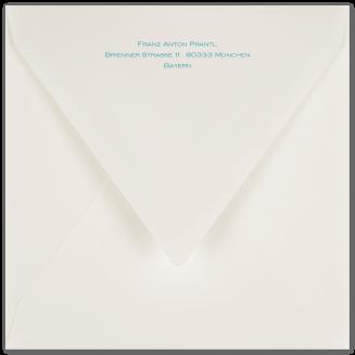 Passende bedruckte Quadratische Briefhüllen