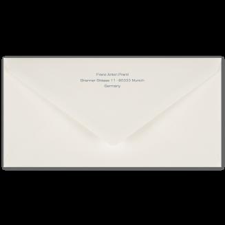 Passende bedruckte DIN Lang Briefhüllen