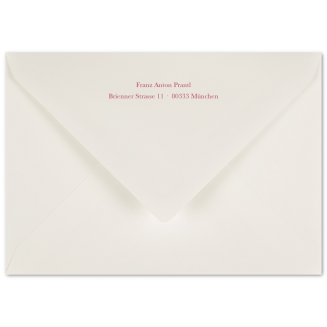 Passende bedruckte C6 Briefhüllen