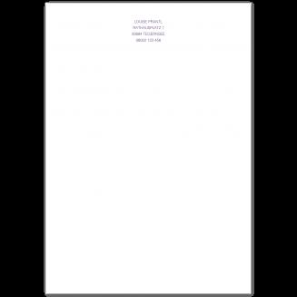 Klassisches A5 Briefpapier (Blockstil)