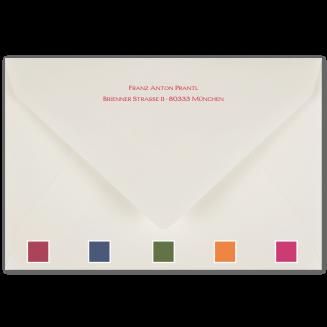 Passend bunt gefütterte bedruckte Briefhüllen