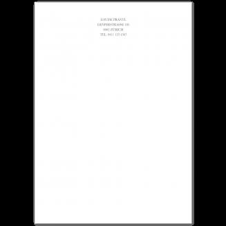 Klassisches A4 Briefpapier (Blockstil)