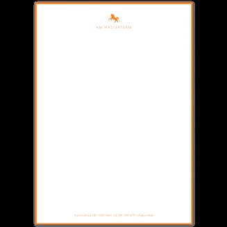 Gerändertes A4 illustriertes Briefpapier mit Fusszeile