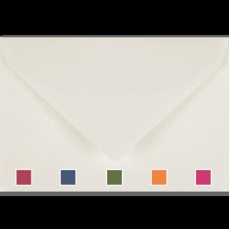 Passend bunt gefütterte Briefhüllen