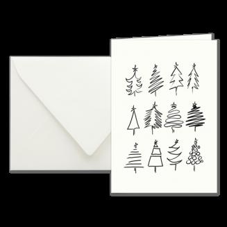 How To Draw A Tree, illustrierte Weihnachtskarten von Kera Till