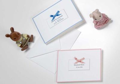 Geburtskarten mit Schleife