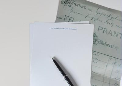 Stahlstich Briefbogen