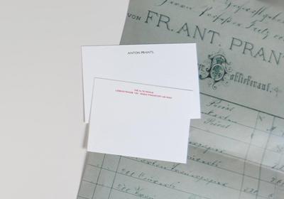 Stahlstich Briefkarten