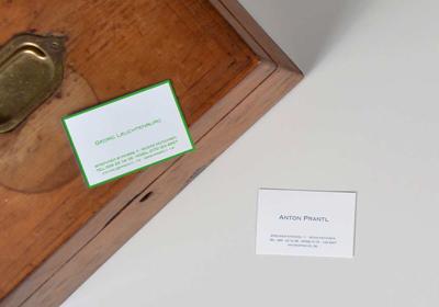 Exklusive Visitenkarten Selbst Gestalten Prantl Seit 1797