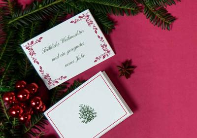 Weihnachtskarten Deutschland.Weihnachtskarten Gestalten Drucken Lassen Prantl Seit 1797